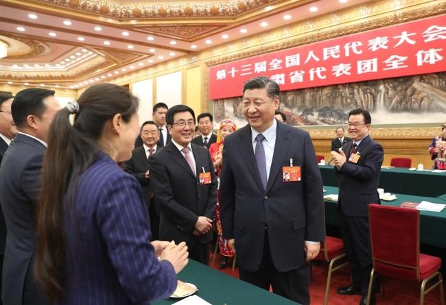 Si Đinping razgovarao sa poslanicima iz provincije Gansu_fororder_Gansu3